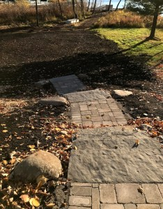 stone steps pavers landscaping project in Crosslake MN