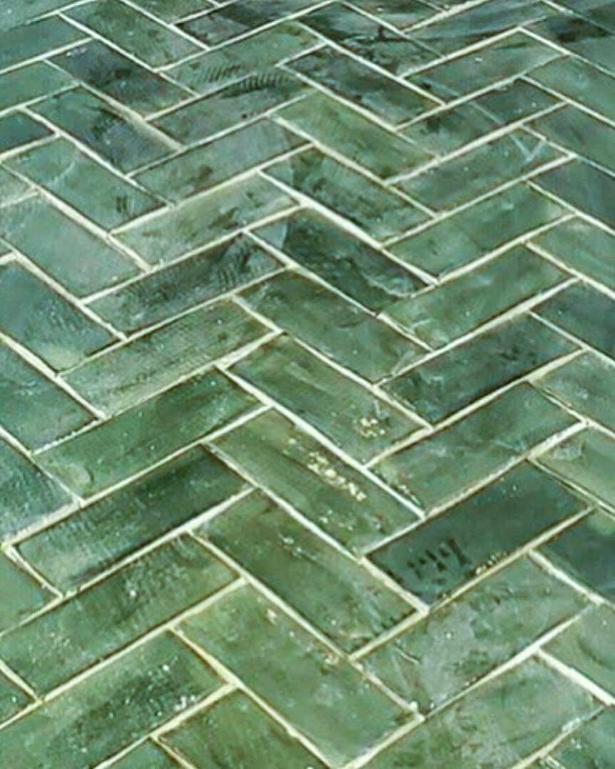 3 x 8 subway tile hunter green