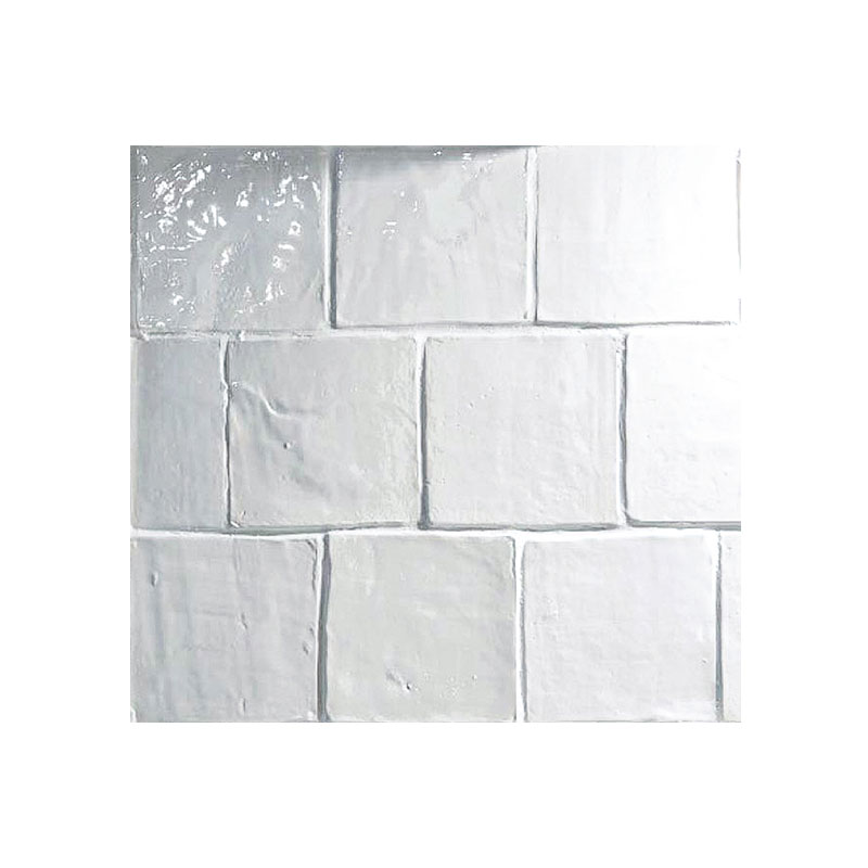 4 x 4 field tile white glaze