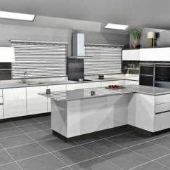 Large Kitchen Island With Seating And Storage Outdoor Cabinets White Handleless Lacquer Terra Oak Panelling In ...