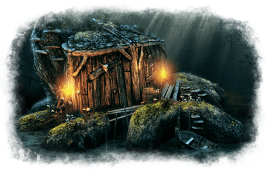 The Hut of the Half Blood Hag Battlemap Black Scrolls Games Map Tiles Dungeon Masters Guild