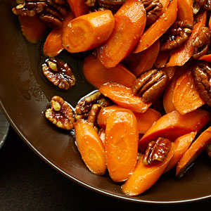 carrots and pecans glazed side dish