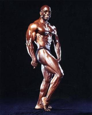 Jim Morris vegan black bodybuilder