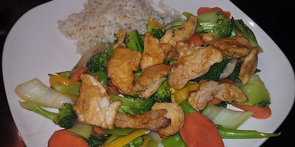 stir fry with Gardein Mandarin Chick'n