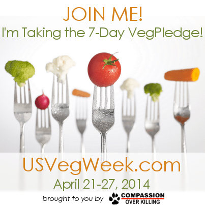 Pledge to eat meat free for one week