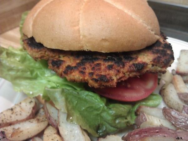 vegan chickpea burger