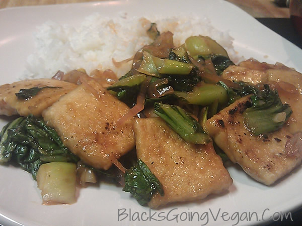 stir fried vegan baby bok choy recipe