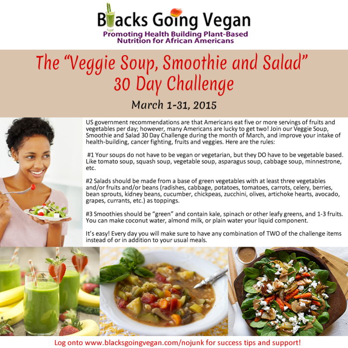 vegan vegetable soup vegetable salad green smoothie challenge