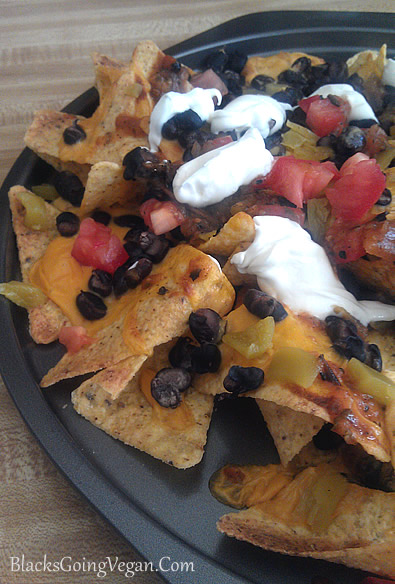 potato carrot cheese vegan nachos
