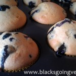 vegan blueberry muffins fresh from the oven