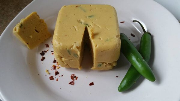 chickpea vegan pepper jack cheese