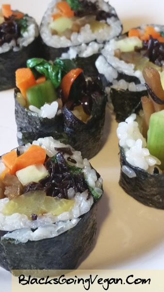 vegan kimbap recipe by Deborrah Cooper