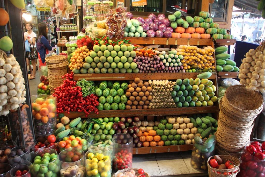 Chatuchak Market, frutta e verdura