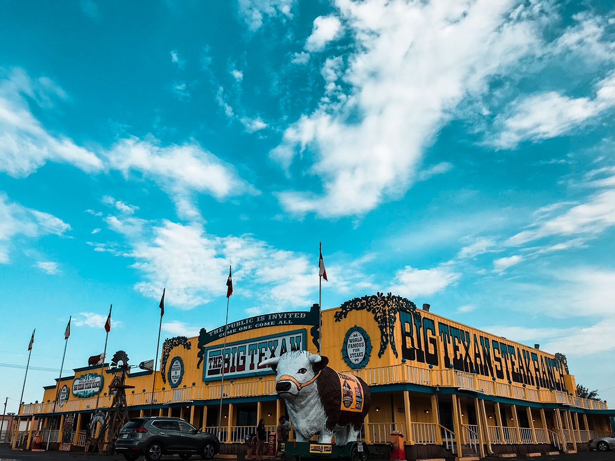 Il Ristorante Big Texan Steak Ranch ad Amarillo, in Texas