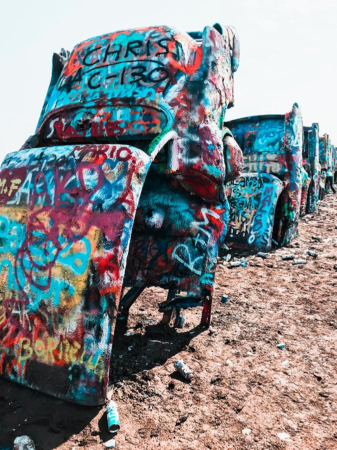 Cadillac Ranch ad Amarillo, in Texas