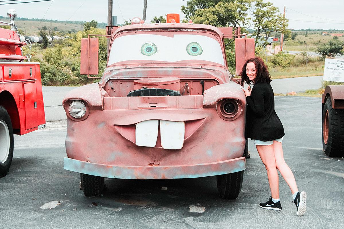 Flavia Piantino Gazzano con Cricchetto di Cars (Disney)