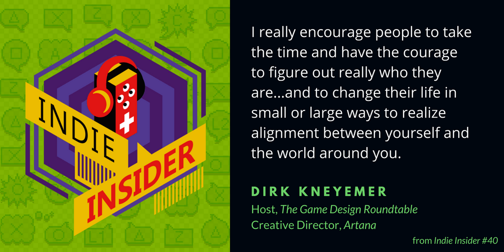 Indie Insider #40 – Dirk Knemeyer, Host of The Game Design Roundtable Podcast