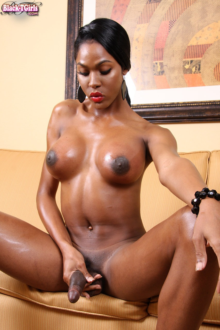Victoria Porche Plays With Her Black Shemale Cock