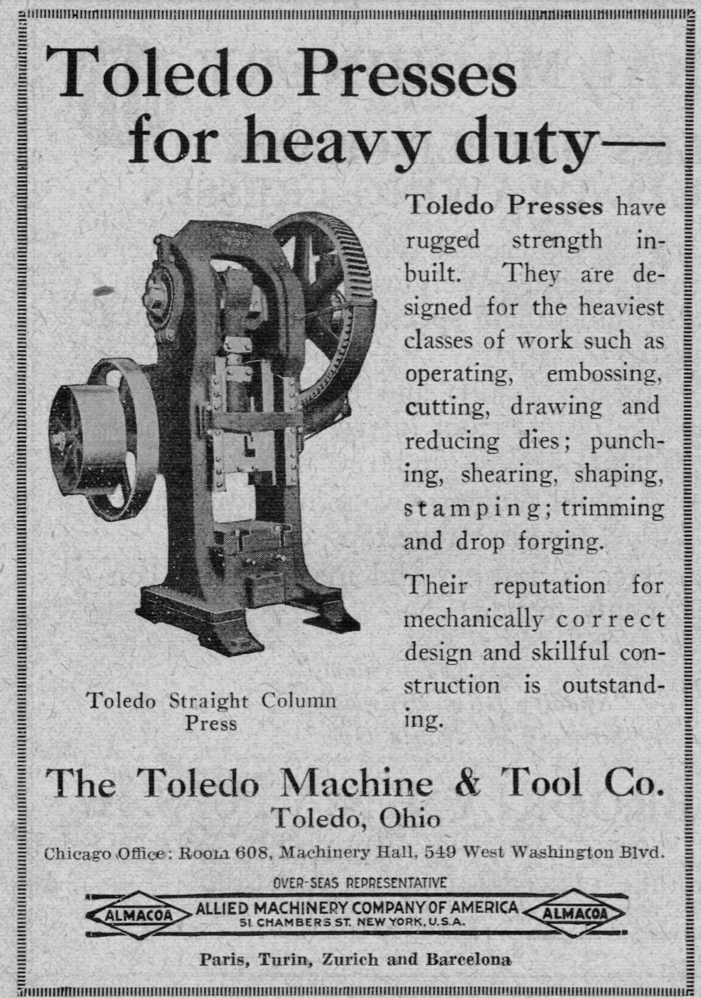 Documentary Toledo Machine And Tool Company