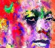 James Baldwin digital color art