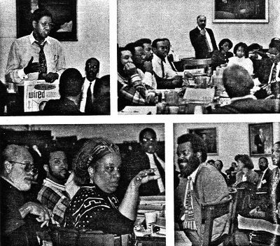 Pictures from the First African American Computer Consortium held in the United States. It was titled An Interactive Niagara Movement