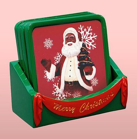 santacoasters Our Favorite HBCU, Divine Nine and African American Ornaments