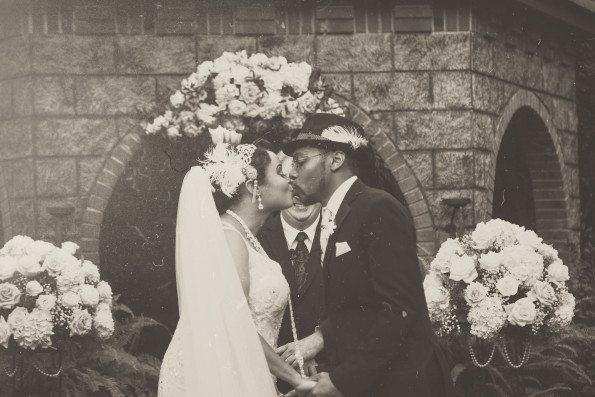 Tish-Jahmaal-697-Edit-595x397 Tishre and Jahmaal's 1920's Art Deco themed Wedding