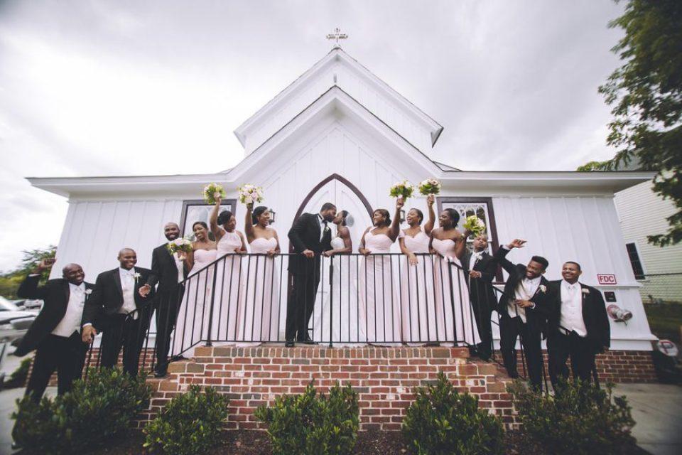 pittman-bridalparty-98-960x640 Traditional Southern Wedding Charm in North Carolina