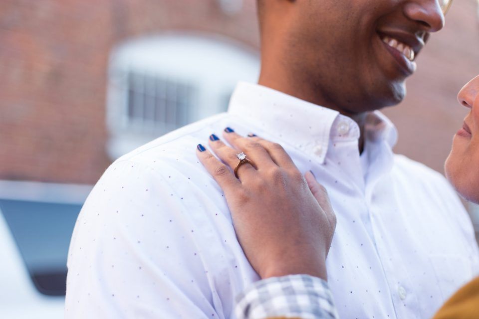 McAllister-and-Cornell-106-960x640 Downtown Raleigh Engagement Session with Vintage Style