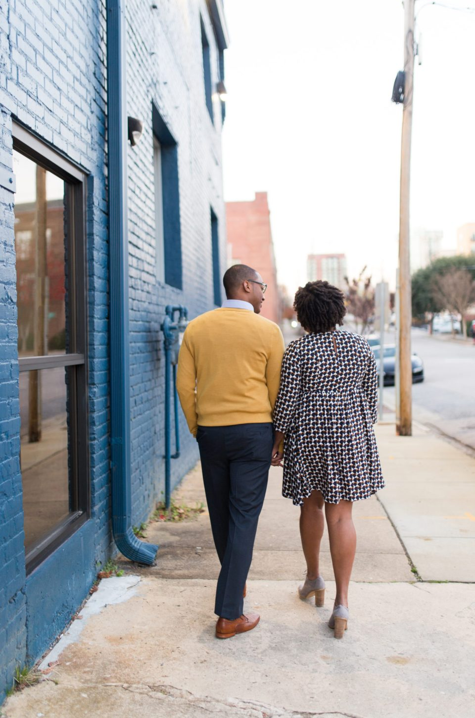 McAllister-and-Cornell-205-960x1450 Downtown Raleigh Engagement Session with Vintage Style