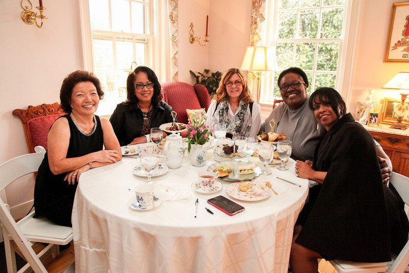 Ladies-at-tea Serving Tea and Staying Southern,  Patricia Bradby  of Miss Priss Tea