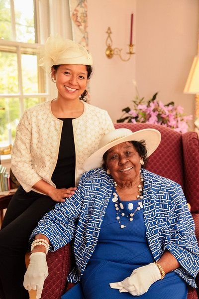 With-my-grandma Serving Tea and Staying Southern,  Patricia Bradby  of Miss Priss Tea