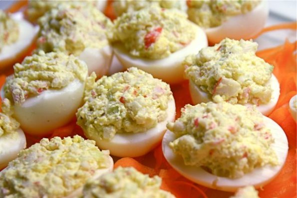 Deviled_Eggs_with_Crab_9-5-09_3-595x397 5 Black Southern Belle Tailgate Appetizers