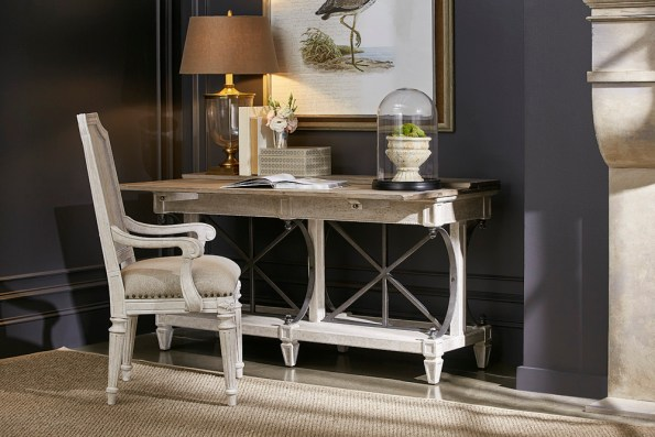 A.R.T.-Furniture-Vaux-Sofa-Table-and-Mills-Arm-Chair-595x397 6 Office Inspiration Looks for a Black Southern Belle