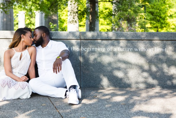 Amber-and-Adrian-Engagement-0025-595x397 Fisk University Love Engagement Session