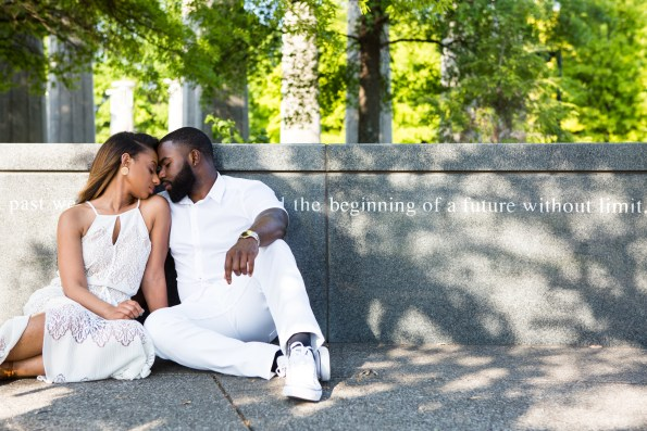 Amber-and-Adrian-Engagement-0026-595x397 Fisk University Love Engagement Session