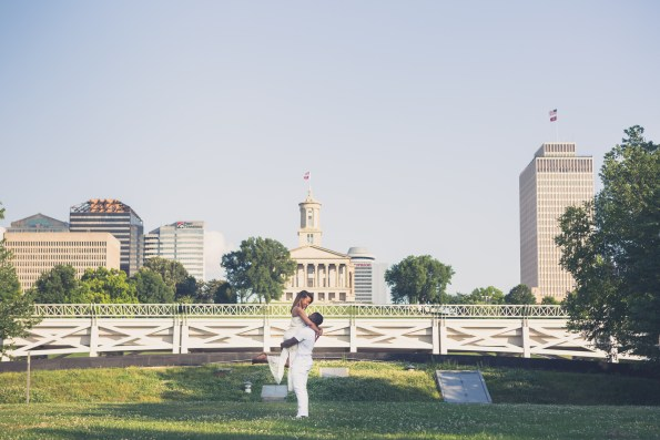 Amber-and-Adrian-Engagement-0039-595x397 Fisk University Love Engagement Session