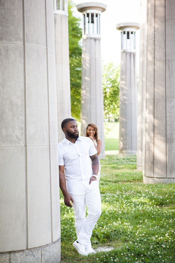 Amber-and-Adrian-Engagement-0074-595x893 Fisk University Love Engagement Session