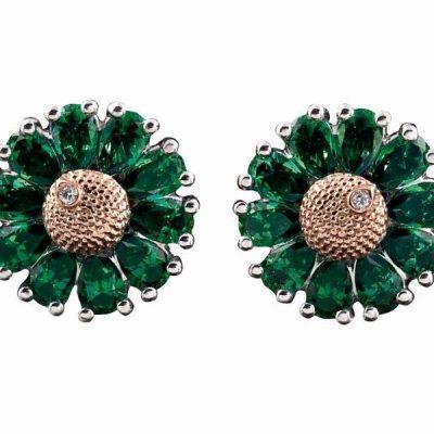 Image 3- Small Grn Tpz Earrings