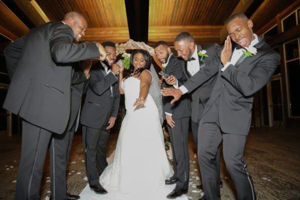 Roberson-235-bride-w-groomsmen-595x397 Spelhouse Love Reigns in Music City