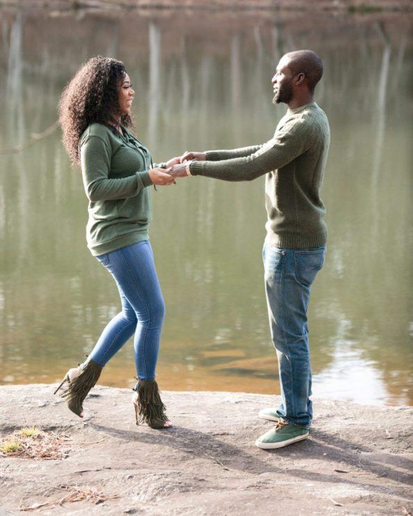 KD173861-595x744 Atlanta, GA Outdoor Engagement Shoot