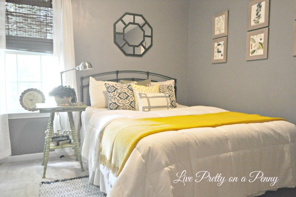 guest-bedroom-1-595x395 Home Tour: Living Pretty on a Penny with Atlanta Lifestyle Blogger
