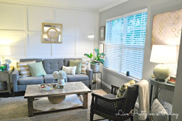 living-room-2-595x395 Home Tour: Living Pretty on a Penny with Atlanta Lifestyle Blogger