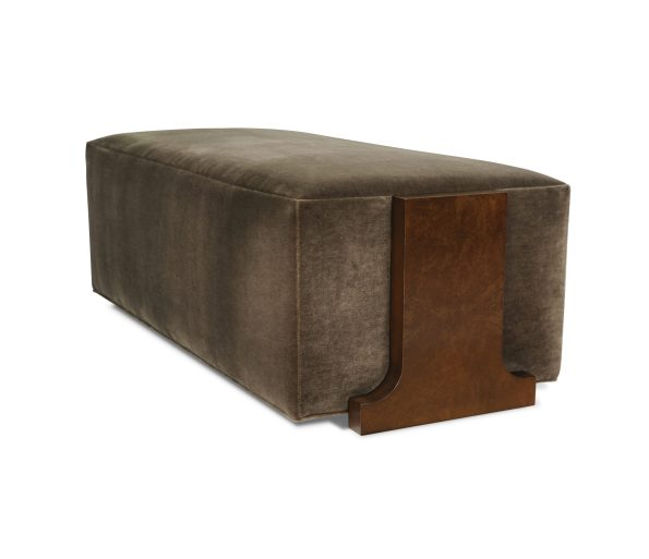 Logan-Ottoman-595x513 Newlywed Neutral, Menswear Inspired Furniture from Taylor King