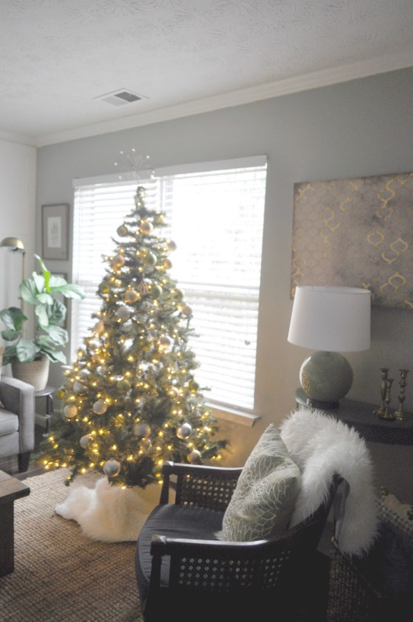 christmas-tree-1-595x896 Home Tour: Living Pretty on a Penny with Atlanta Lifestyle Blogger