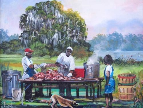 Awendaw_Crab_Crack Summer Seafood and African American Art - 5 Decor Pieces for the Foodie