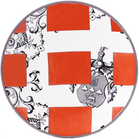 allure-armoiries-appetizer-plate-orange-445px-491px 10 Items for Your Tabletop from Steve McKenzie's