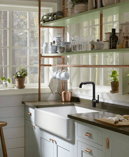 CopperCottageSink Modern Farmhouse Kitchen Inspiration from Kohler