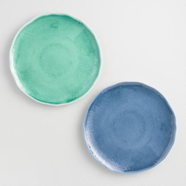 WorldMarketPlates-595x595 5 Tablescape Essentials for a Beach Inspired Party
