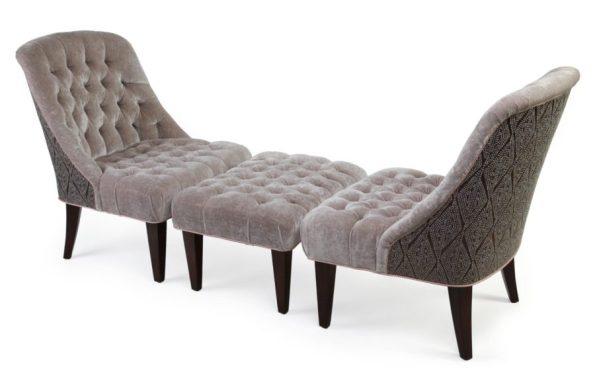 Classic-Duchesse-Brisee-by-Marks-Frantz-for-Ferrell-Mittman-in-Grey-Velvet-595x387 5 Looks of Velvet Inspiration for Your Home this Winter